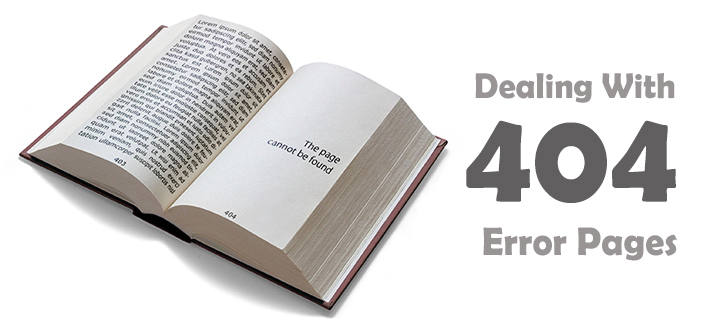 Dealing With 404 Error Pages