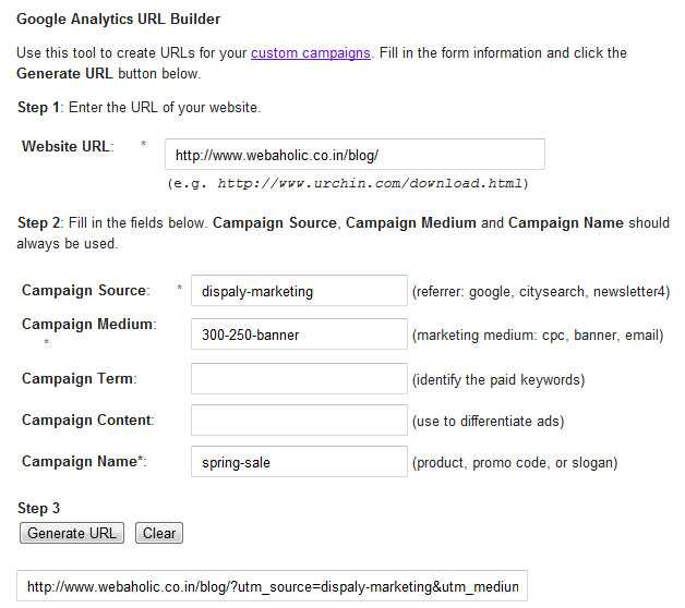 Google Analytics URL Tool Builder