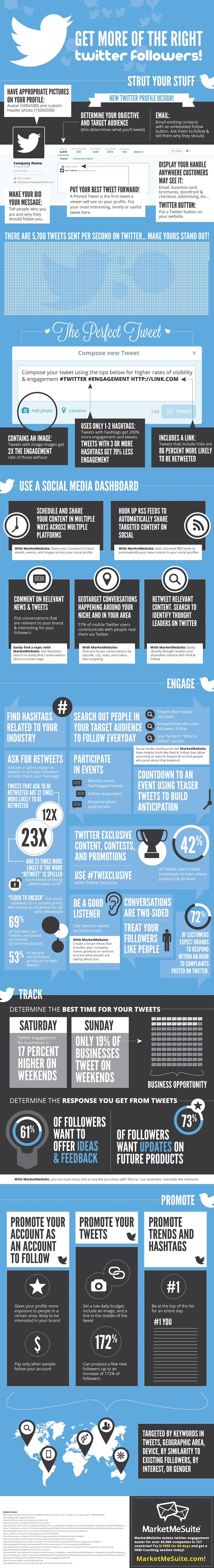 Get More Twitter Followers Infographic