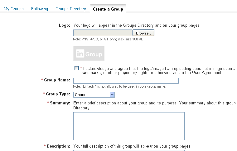 Create a group on LinkedIn