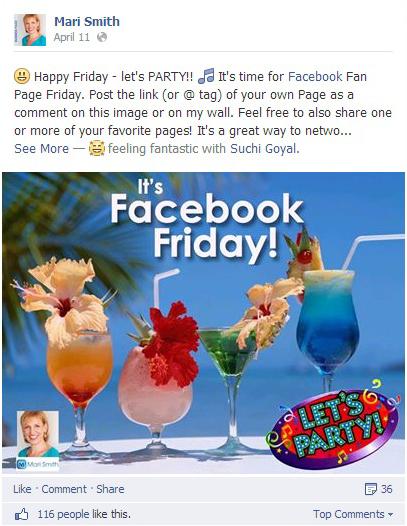 Mari Smith arranges Facebook Friday