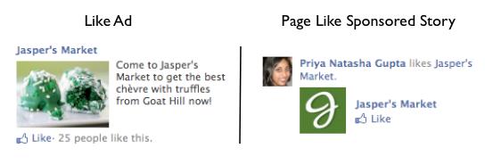 Facebook Ad vs Sponsored Story