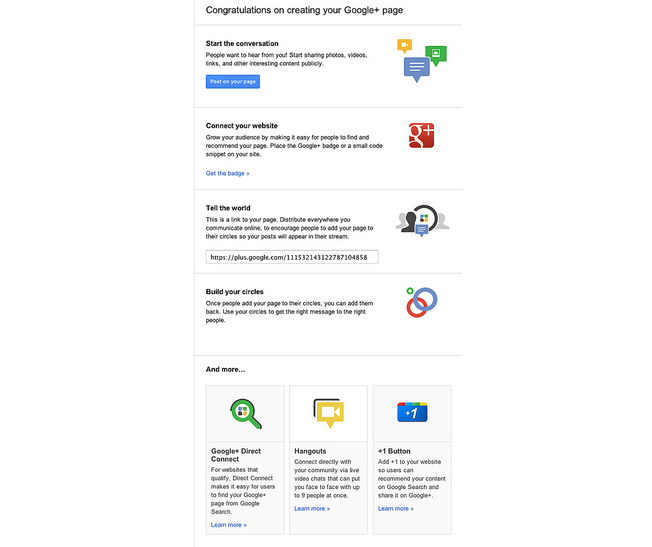 Google + Business Page Final Step