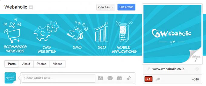 Webahlic Google+ Page