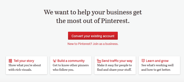 Convert Your Existing Pinterest Account