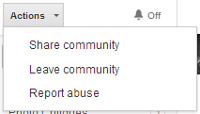 Google+ communities actions notifications