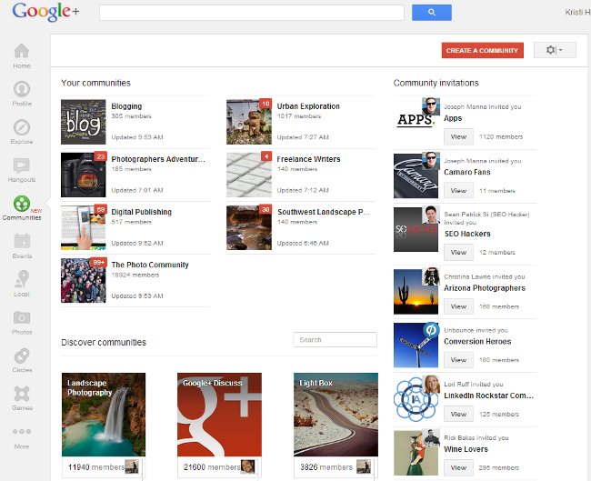 Google+ Communities
