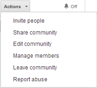 Google+ Community Actions