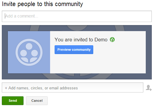 Google+ community Invite