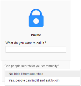 Google+ private communities