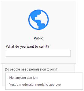 Google+ public community setup