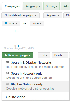 Creating new campaign in AdWords