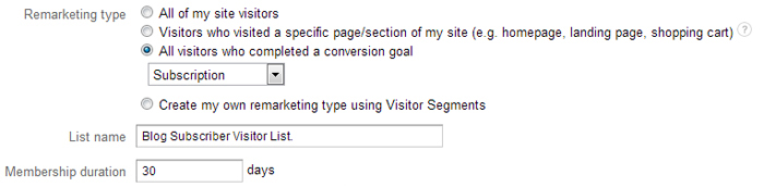 You can create lists that target visitors who took a certain action.