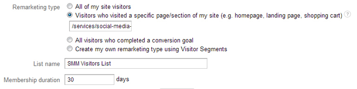 You can create lists that target specific page visits.