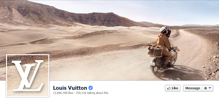 Louis Vuitton Facebook Page